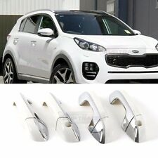 Chrome White Door Catch Handle Trim Cover Garnish for KIA 2017-2018 Sportage QL