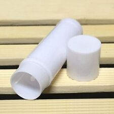 50pcs Empty Clear LIP BALM Tubes Containers White Lipstick Tubes