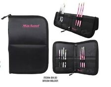 Mia Secret Nail Brush Holder - Case - Pouch - New Arrival ! Larger Size - Black