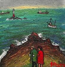 Lands End Date   : Original BEST Oil Painting  Famous Artist James Downie