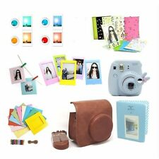 7 in 1 Instant Camera Accessory Bundles Set for Fujifilm Instax Mini 8 Brown Bag