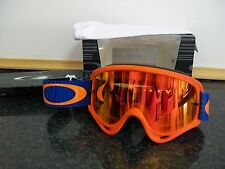 New Oakley O Frame genuine Fire Iridium orange blue Motocross Goggle goggles ktm