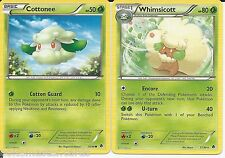 Pokemon Cards: Whimsicott 12/98 & Cottonee 10/98 Emerging Powers Evolution Rare!