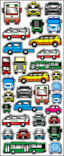Fun Stickers CARS & BUSES 910 For Children Fun Activities Craft Decorating Gifts