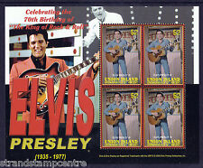 Elvis Presley 70th Birthday Unmounted Mint Stamp Sheet from Grenadines