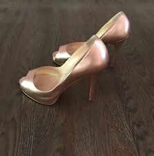 Christian Louboutin Very Prive Rose Gold Color Pump 36.5