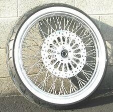 Chrome 21 X 3.5 80 Spoke Front Wheel 120/70 Tire Package 07-2016 Harley Softail