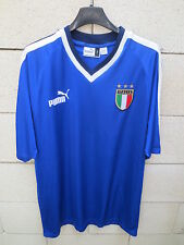 VINTAGE Maillot ITALIE ITALIA calcio PUMA training football shirt maglia L
