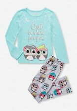 Justice Girls Pajamas Owl Be the for you Glow in the Dark Size 16/18 Cute!!!