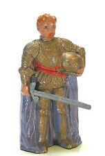 Timpo vintage lead toy soldier figure Knight Quintan Droiulard with, sword