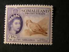 SOMALILAND PROT. SCOTT # 137, 2/- VALUE VIOLET & BROWN QE2 1953 ISSUE MVLH