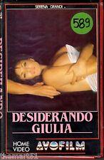 DESIDERANDO GIULIA (1987) VHS AVO film  1a Ed.- Serena Grandi