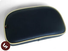 VESPA/LAMBRETTA Rear Rack Back Pad Navy Blue/cream pipe Bolt-On