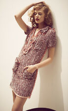 ICONIC SoldOut CHIC DIVINE 1 of a KIND LANVIN F'12 tweed/buckle fringe dress
