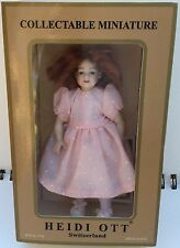 Heidi Ott Dollhouse Doll xc020 Miniature Kid Child Curly Red Hair Girl 1:12 New