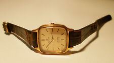 Women's OMEGA DEVILLE Quartz Watch. 20mm Gold Dial. 18K Gold Plated.