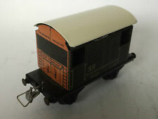 ORIGINAL OO TINPLATE RAILWAY VINTAGE OLD TOY TRAIN BROWN CARRIAGE ZA