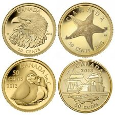 2013 Canada 1/25th oz. Gold 4 coin Set - .9999 fine