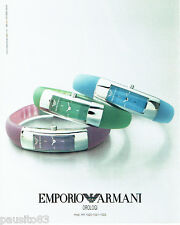 PUBLICITE ADVERTISING 056  2003  Emporio Armani collection montres