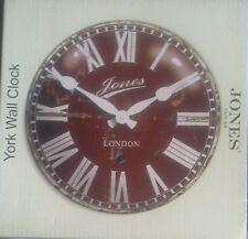 Reloj De Pared Jones ~ York ~ ~ Londres Nuevo Y En Caja