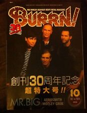 Burrn! Magazine Oct 2014, 30th Anniversary Issue, Mr Big, Aerosmith, Motley Crue