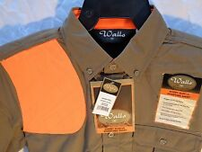 Wall's Mens Shooting Hunting Shirt w/ Padded Shoulder Upland Olive Sz Medium Reg