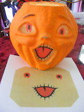 REPLACEMENT FACE FOR  HALLOWEEN PAPER MACHE PUMPKIN NEW 'LARGE'
