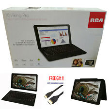 "NEW RCA 10"" Viking Pro 2-in-1 Android 6.0 Marshmallow GPS 32GB Quad HD Detach Kb"