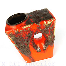 "cool 70´s design ""Chimney"" Vase Fat Lava glaze Ü Keramik West Germany 70er Jahre"