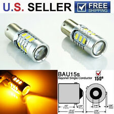 Error Free Amber 15W 7507 LED Bulbs For BMW 1 3 4 Series Front Turn Signal Light