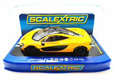 Scalextric Volcano Yellow McLaren P1 PCR DPR W/ Lights 1/32 Slot Car C3644