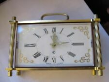 "CLOCK , USSR Clock , Approx. 6"" X 4"" X 2"" , SLAVA , Desk Top / Mantel"