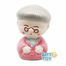Japanese Porcelain Grandma Car Bobble Head NSS1/GM
