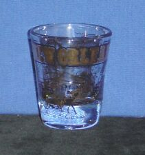New Orleans, LA with Many Sites in Gold on 1oz Glass Shot Glass - NEW