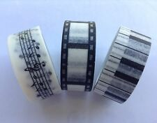 Rhapsody Washi Tape | Musical Notes, Piano Keys, Film