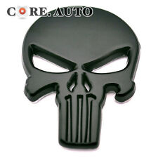 1x Black Metal 3D Emblem For Marvel Punisher Skull Car Truck Sticker Body Cover