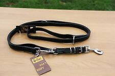 Soft Leather Lead Leash, Waxed,Strong,Obedience,Training,Tracking,Sport,K9, 3in1