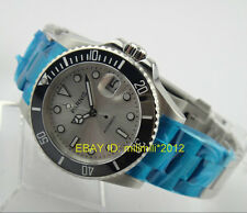 Parnis 40mm Ceramic Bezel Submariner Style Silvery dial Automatic Men's Watch