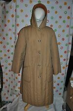 WHITE BEAR of ST PAUL warm  vintage   HOODED  COAT WOMENS 24 1/2  USA made