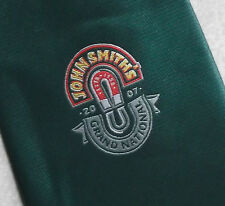 GRAND NATIONAL JOHN SMITH'S HAND MADE TIE VINTAGE DARK GREEN 2007 HORSE RACING