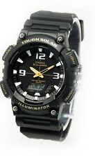 Casio AQS810W-1B Tough Solar Analog Digital Sports Watch 5 Alarms Army Black NEW