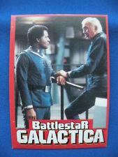 Battlestar Galactica 1978 Wonder Bread trading card #18 of 36 Adama & Col. Tigh