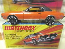 Matchbox Lesney Edition Orange 1968 Mercury Cougar New Mint in Mint Box