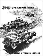 1946 1947 1948 1949 Jeep CJ 2A Operation Data Manual for Accessories Willys CJ2A