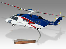 Sikorsky S-92 Bristow Helicopters Mahogany Wood Desktop Display Helicopter Model