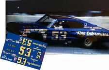 CD_2731 #53 Bud Moore - King Enterprises 1966 Dodge Charger  1:24 Scale Decals