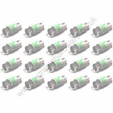 20 x Green 5v 10mm T10 Wedge Base LED Bulbs for Arcade Push Buttons - MAME