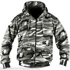 MENS ARMY JACKET HOODIE FLEECE LINED HOODY S M L XL XXL XXXL URBAN CAMO FISHING