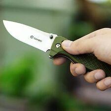 Coltello Ganzo G724 GREEN ARMY Axis Lock Survival Knife, Tactical EDC G10