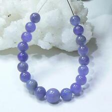 19 RARE PURPLE BLUE AFRICAN TANZANITE ROUND SPHERE BALL BEADs 5.5-7mm 30ctw